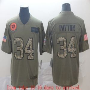 Chicago Bears Walter Payton Jersey Olive